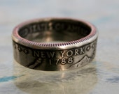 2001 New York State Quarter Coin Ring by Custom Coin Rings size 5 to 12