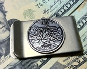 Money Clip with State Quarter----- Pick Your State--Custom made to order!
