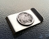 Money Clip with Indian Head Nickel jewelry by Custom Coin Rings