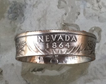 2006 Nevada State Quarter  coin Ring  Jewelry by Custom Coin Rings