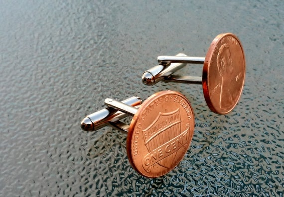2011 Penny Cufflinks  by Custom Coin Rings -----Jewelry-----cuff link---