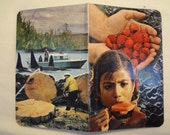 Small Moleskine Cahier Notebook, Lined Pages, with Girl Eating a Popsicle, Berries, and Guy Chopping a Tree
