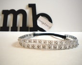 Double Silver Elastic Headband