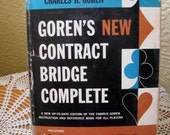 Vintage Book - Charles H. Goren's New Contract Bridge Complete, HCDJ