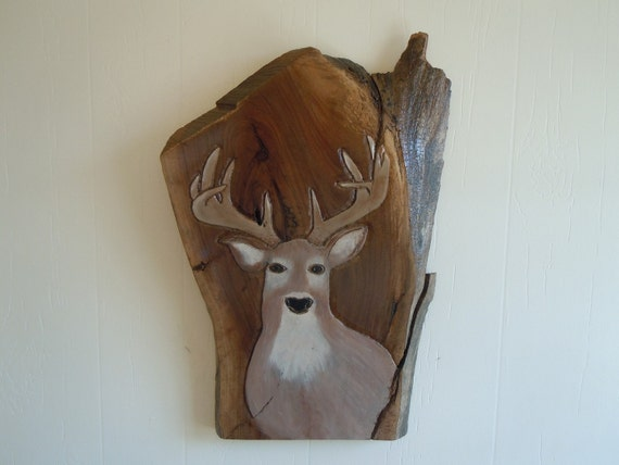 Hand Carved Painted Deer