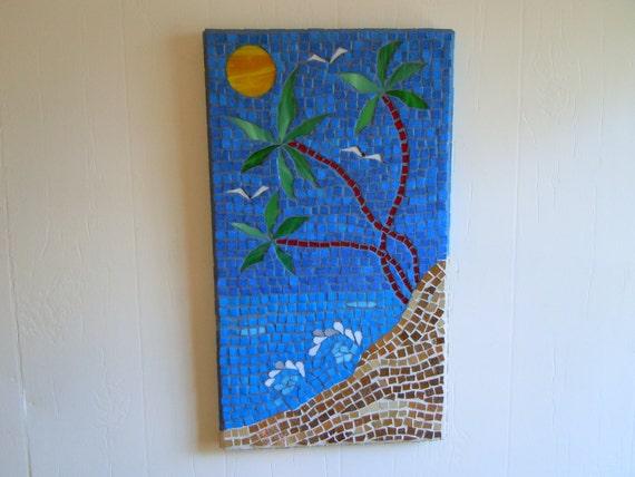 Breaking Waves Mosaic, Beach Home Decor, Coastal Home Decor, Beach Wall Art, Beach Chic