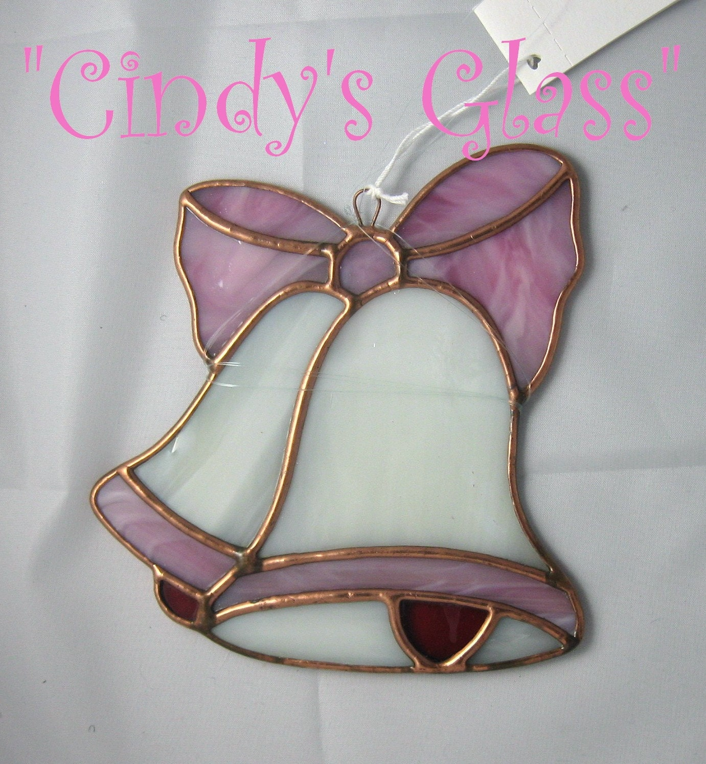 Stained Glass Pink Wedding Bells