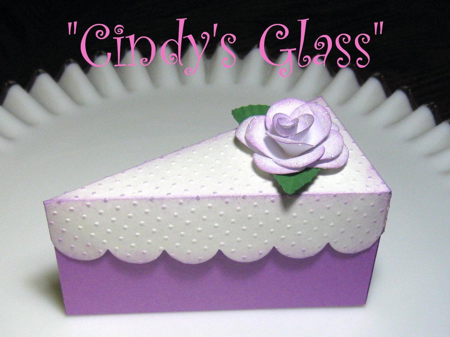 birthday cake slices treat boxes