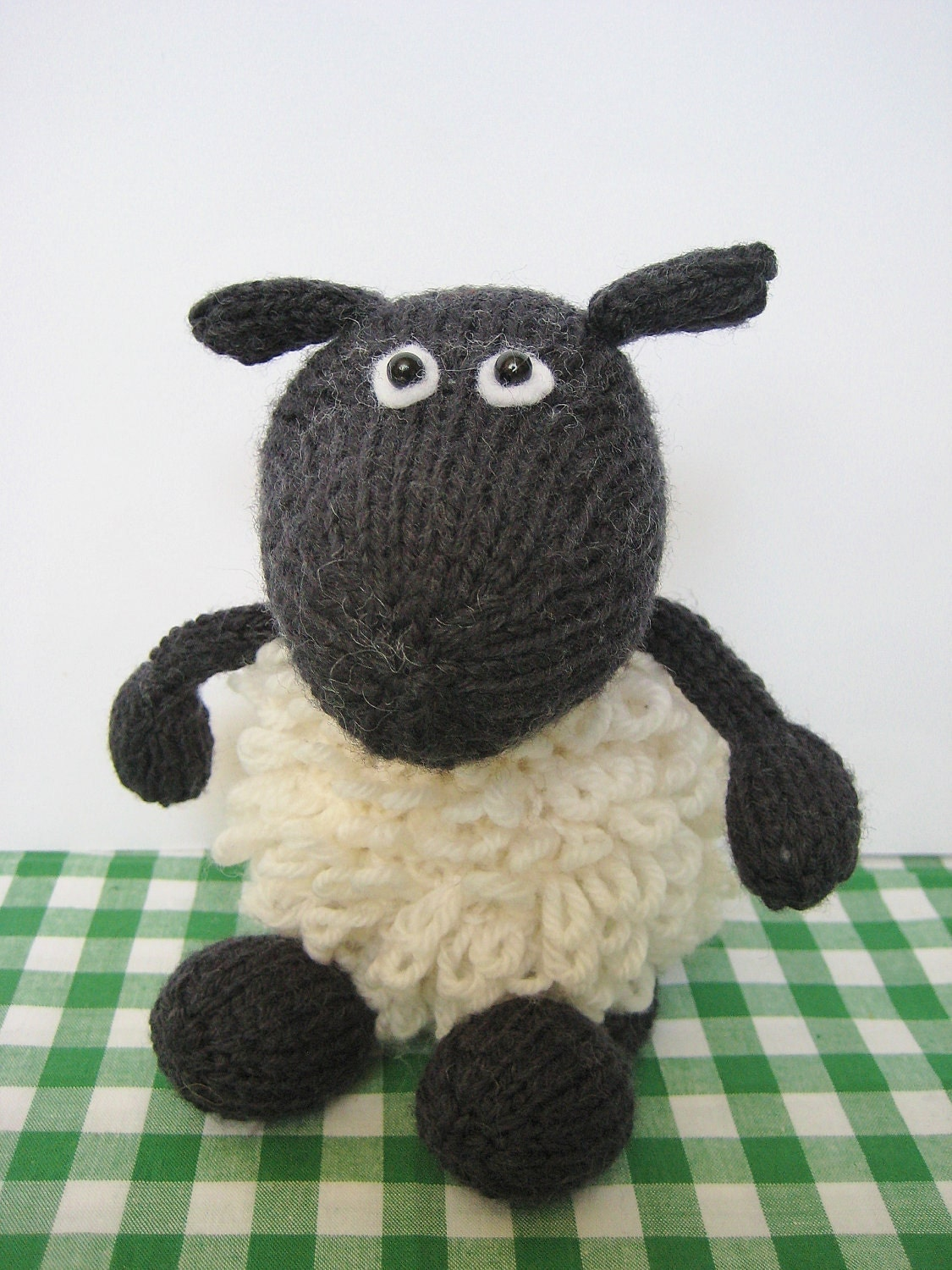Plymouth Yarns Free Knitting Patterns : Loopy the Sheep toy knitting pattern by fluffandfuzz on Etsy