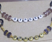 Stethoscope ID .... Jewelry for your medical gear ... Stethoscope jewelry .. Customize with Your Name and your Colors