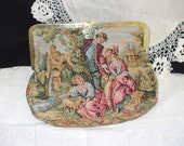 Tapestry Evening Bag, Clutch, Purse with romantic Florentine Scene
