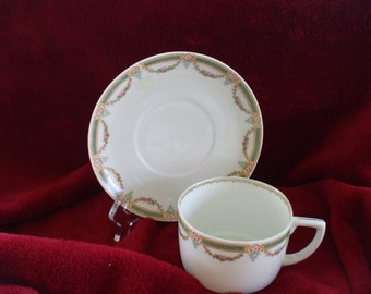M  Z AUSTRIA ,China Cup and Saucer -  Hand Painted