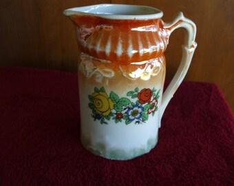 RCW Bavarian Ceramic Milk Cream Pitcher, Vintage,