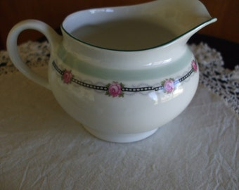 Vintage Z S & C  CHINA  CREAMER, with  Pink Roses from Bavaria