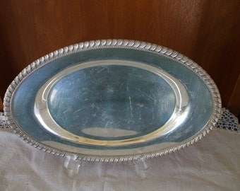 Silver Plate Serving Bread Tray by Poole & Co, 1033 Wedding, Bride, Party, Jewelry