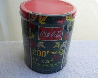 Coca Cola Special Edition Puzzle in Tin,  Unopened,  Coke Collectibles, 200 Pieces.