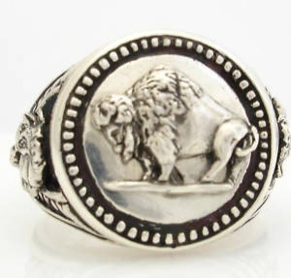 Warriors Orochi 4 Review Jim Sterling: Buffalo Nickel Design Coin Mens Ring Sterling Silver Large