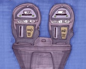 Parking Meter-5x7 inch Print from Original Illustration
