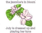 Summer Breeze/Jasmine- 8x10 Print from Original Illustration