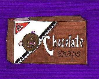Chocolate Snaps-5x7 inch Print from Original Illustration