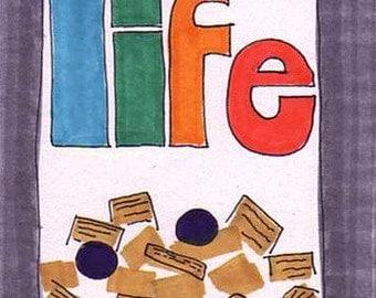 Life-5x7 inch Print from Original Illustration