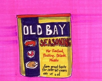 Old Bay -5x7 inch Print from Original Illustration