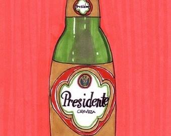 Presidente-5x7 inch Print from Original Illustration