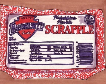 Scrapple-5x7 inch Print from Original Illustration