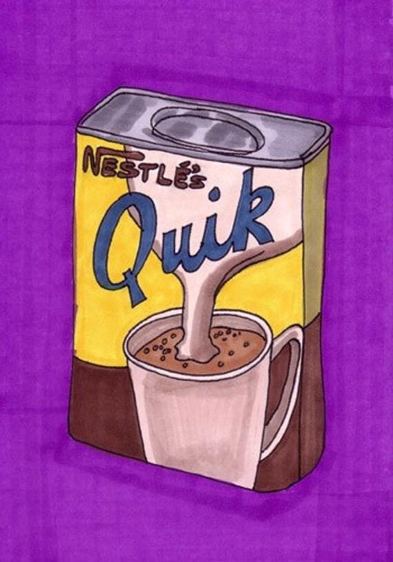 Quik-Original Framed 5x7 inch Illustration
