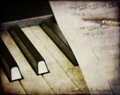 Piano : classical sheet music photography beethoven mozart vintage antique black white keys haunting 8x10 11x14 16x20 20x24 24x30