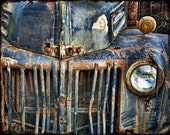Rusty Old American Dream : truck photography relic abandoned truck photo vintage ford rust blue teal home decor 8x10 11x14 16x20 20x24 24x30