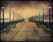 San Francisco Pier : northern california photography bay area tourist travel wharf pier sunset dusk lamp post 8x10 11x14 16x20 20x24 24x30