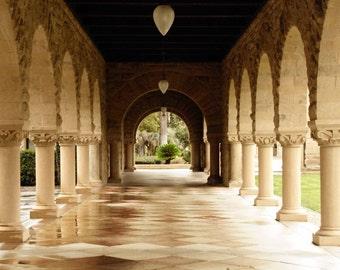 Arched Walkway : stanford university school college graduation palo alto marble stone plaza 8x10 11x14 16x20 20x24 24x30