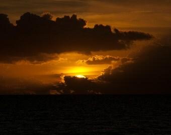 Dusk and Summer : beach photography sunset maui hawaii gold black home decor 8x10 11x14 16x20 20x24 24x30