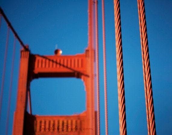 Golden Gate Bridge : san francisco photography bay area northern california historic red orange blue home decor 8x10 11x14 16x20 20x24 24x30