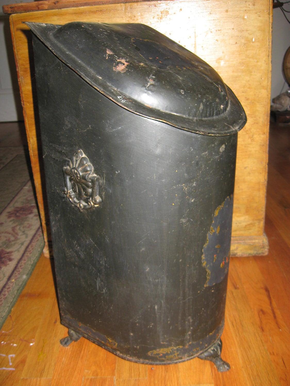 Dings And Dents >> Antique Coal Hod Bin Toleware Restore