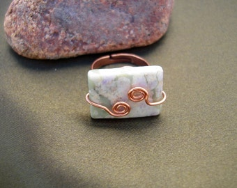 Wire Wrapped Peace Stone Ring