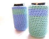 Can Cozy Set of 2 in Periwinkle and SeaSpray by MontanaDaisyGirl on Etsy