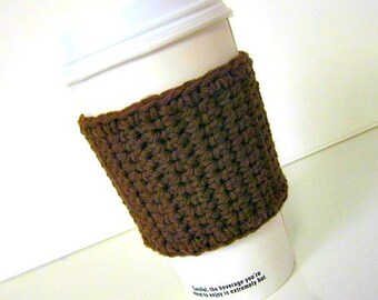 Travel Coffee Cup Cozy in Dark Brown, Coffee Accessories, Coffee Gift, Cup Cozy, Mug Cosy, Tea Cozy, Teachers Gift, To go cup cozy