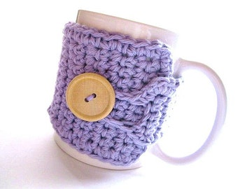 Coffee Mug Cozy in Lavender, Coffee Mug Cozy, Tea Cozy, Coffee Accessories, Teachers Gifts, Coffee Cup Cozy, Coffee Lover Gift, Coffee Wrap