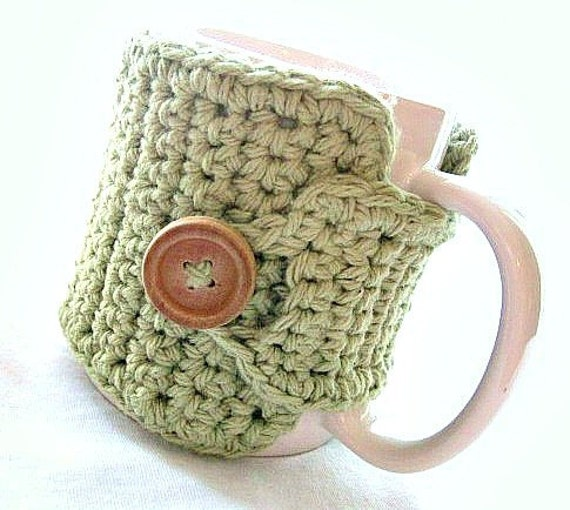 Coffee Cozy in Light Sage Green, Coffee Accessories, Teachers Gift, Coffee Cozy, Coffee Cup Wrap, Coffee Lovers Gift, Coffee Hugger