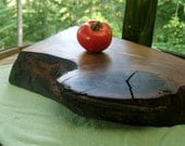 Extra Thick, Organic Original, Natural Edge Black Walnut Serving Tray 63