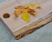 Rustic Wood Cutting Board, Natural Edge Salvaged Maple 373