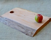 Rustic Wood Cutting Board, Natural Edge Salvaged Maple 399