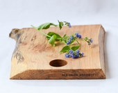 Cottage Cutting Board, Natural Edge Salvaged Wood 648, Ready to Ship