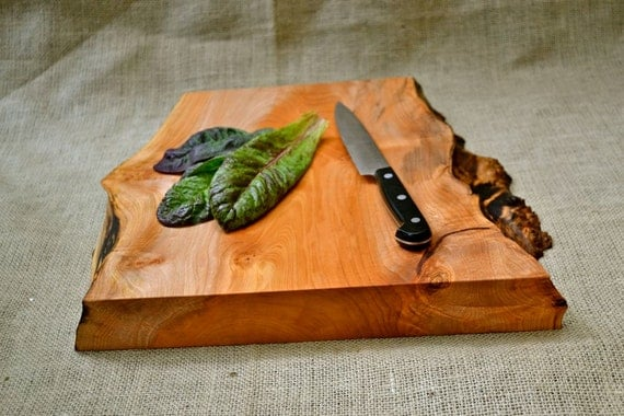Manly Cutting Board, Extra Thick with a Natural Wood Edge  281