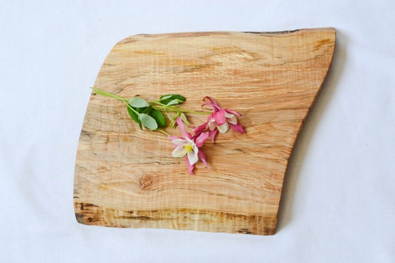 Rustic Wooden Cheese Board, Natural Edge Salvaged Maple 637, Ready to Ship