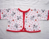 Newborn jacket flannel carseat baby cover stroller jacket dogs dalmatians balls firefighter red white soft snuggle jacket