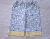 Flannel pants lounge pants pajama bottoms blue yellow moon print - size 2T