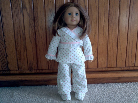 Matching pajamas and slippers American Girl pajamas and slippers 18 inch doll pajamas and slippers